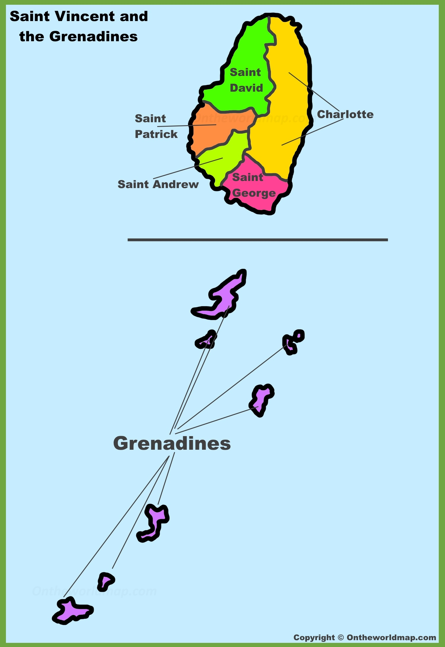 Saint Vincent and the Grenadines Maps Maps of Saint Vincent and