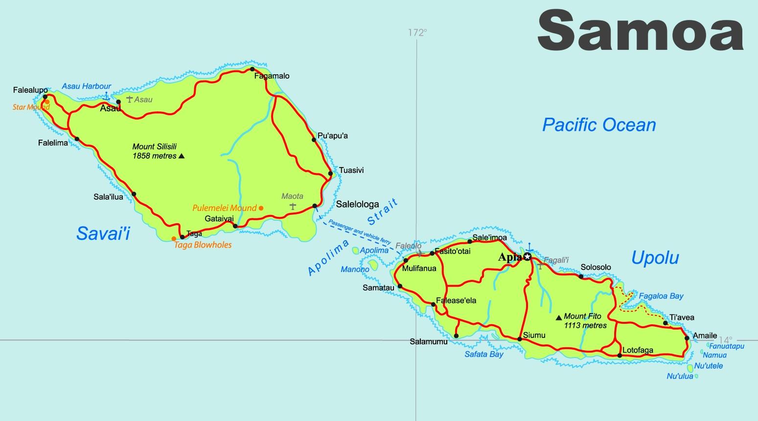 Samoa road map