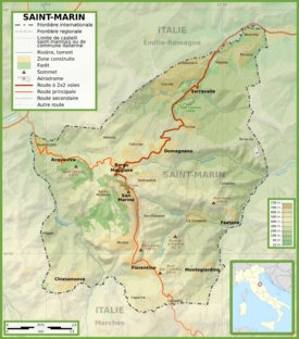 Large detailed map of San Marino