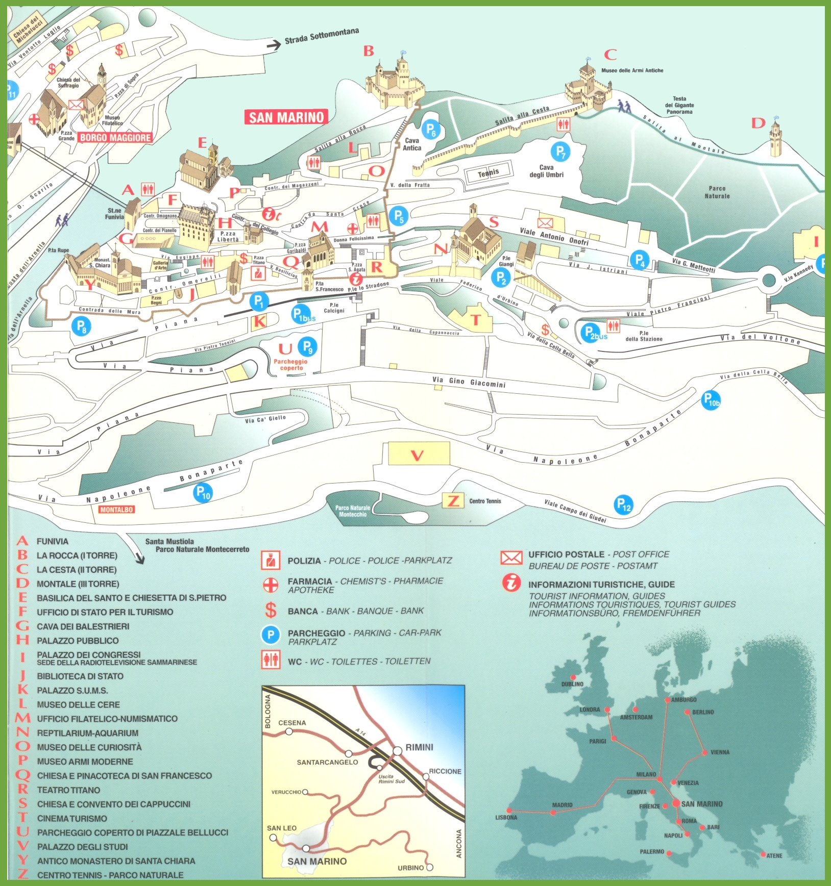 San Marino Maps Maps of San Marino