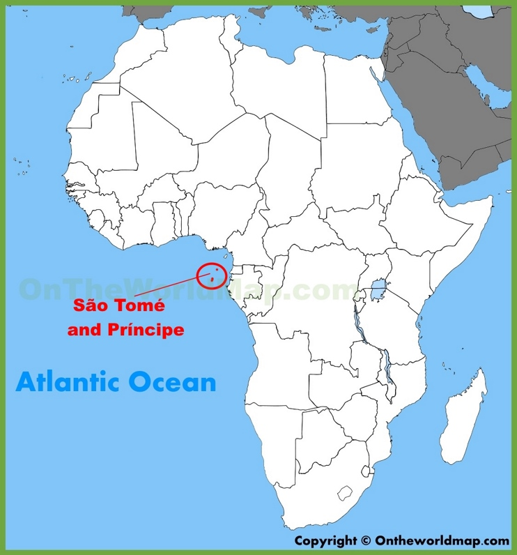 Sao Tome and Principe location on the Africa map