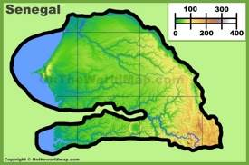 Senegal physical map