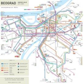 Belgrade Bus and Tram Map