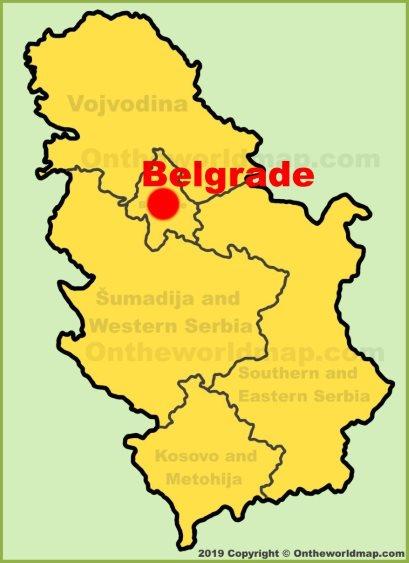 Belgrade Location Map