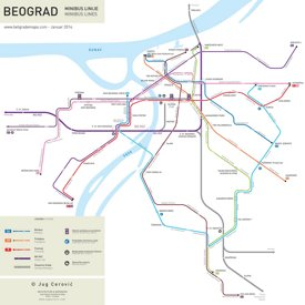 Belgrade Minibus Map
