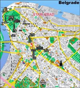 Belgrade Sightseeing Map