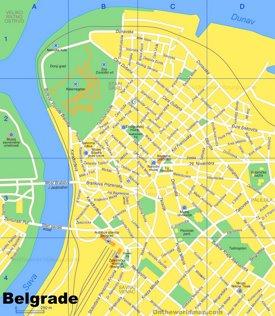 Belgrade Street Map