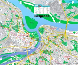 Belgrade Tourist Map