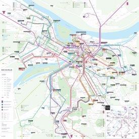 Belgrade transport map