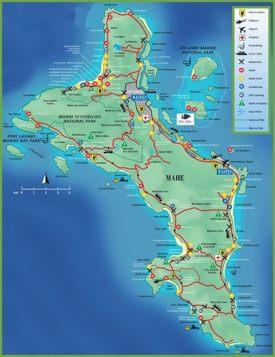 Mahe island map