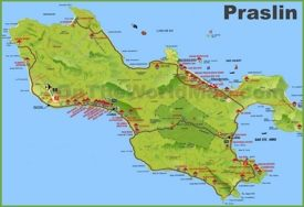 Praslin island map