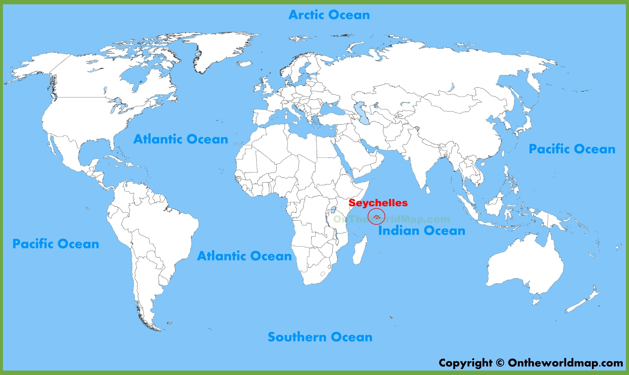 Seychelles location on the World Map