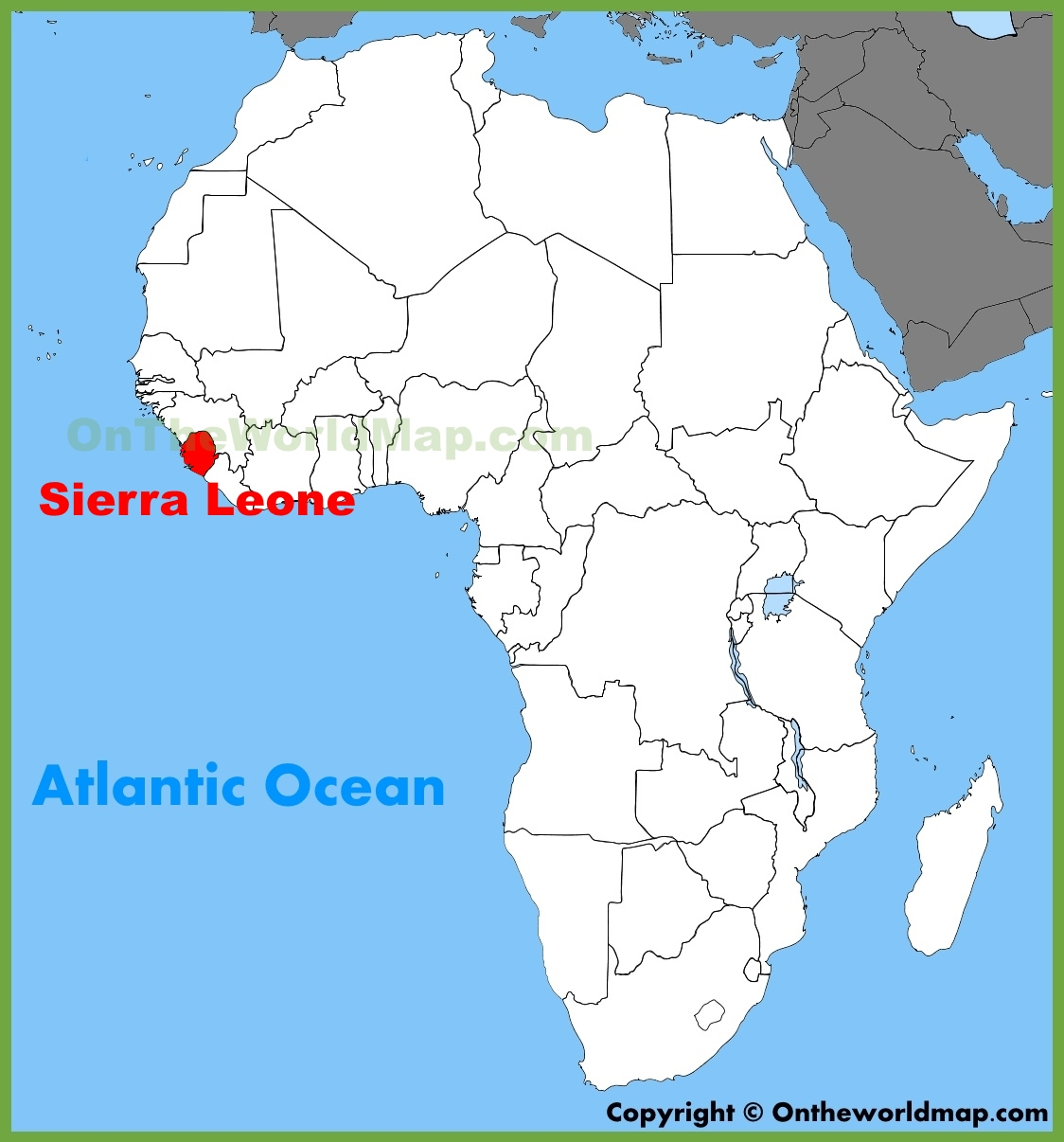 africa map with sierra leone