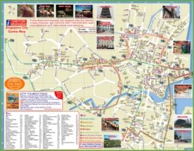Singapore hotel map