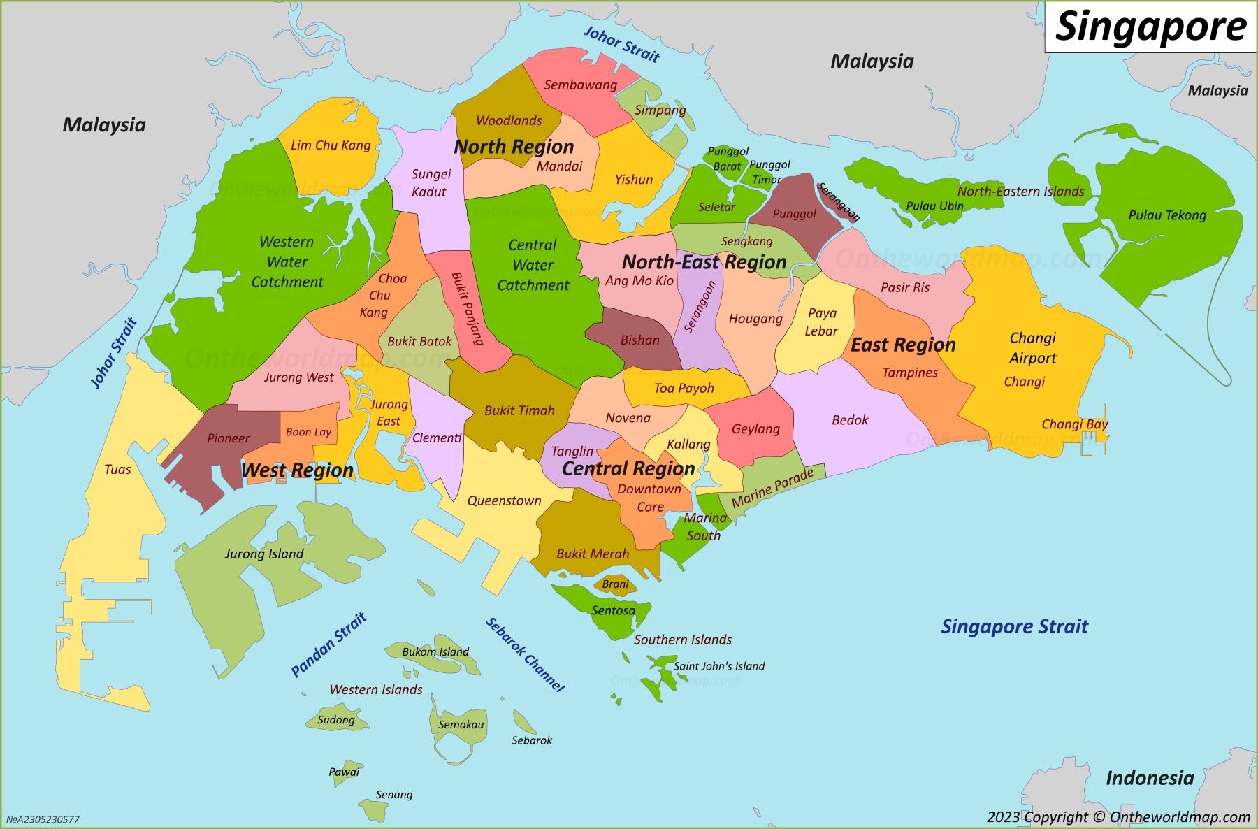 Singapore Maps Maps of Singapore
