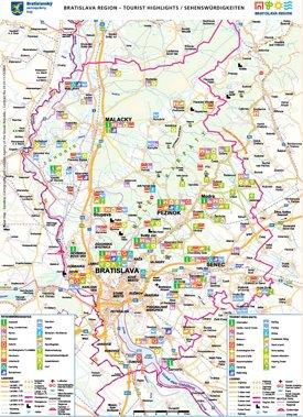 Bratislava Region tourist map