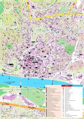 Bratislava sightseeing map