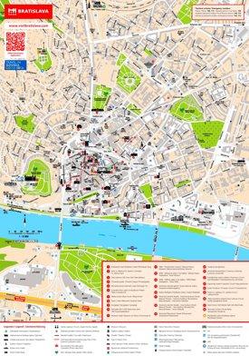 Bratislava tourist map