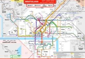 Bratislava transport map