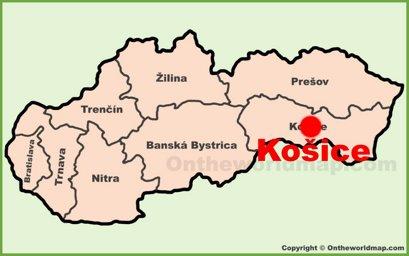 Košice Location Map
