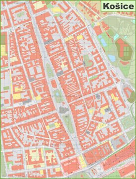 Košice Old Town Map