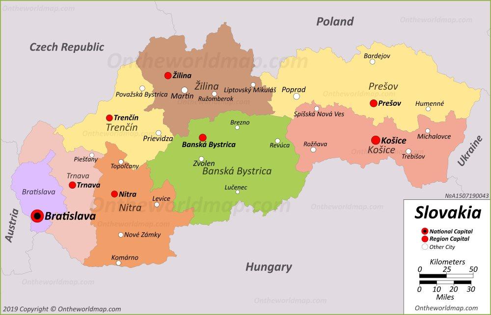 Slovakia Maps Maps of Slovakia