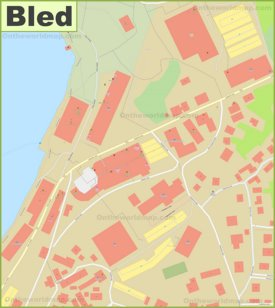 Bled town center map