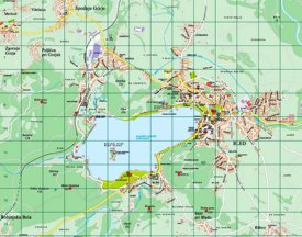 Detailed map of Lake Bled