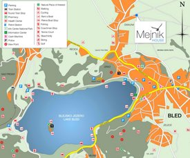 Lake Bled tourist map