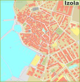 Izola Old Town Map