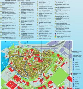 Koper hotels and sightseeings map