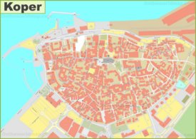 Koper Old Town Map