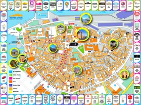 Koper shopping and tourist attractions map