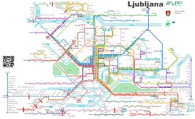 Ljubljana Passenger Transport Map