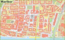 Maribor city center map