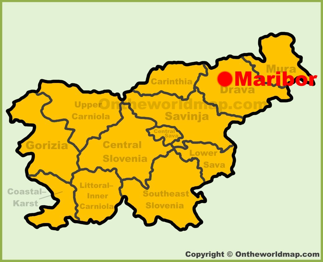 Picture of: Maribor Location On The Slovenia Map