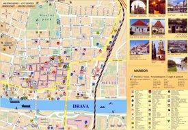 Maribor tourist map