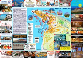 Piran tourist map