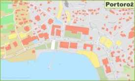 Portorož town center map