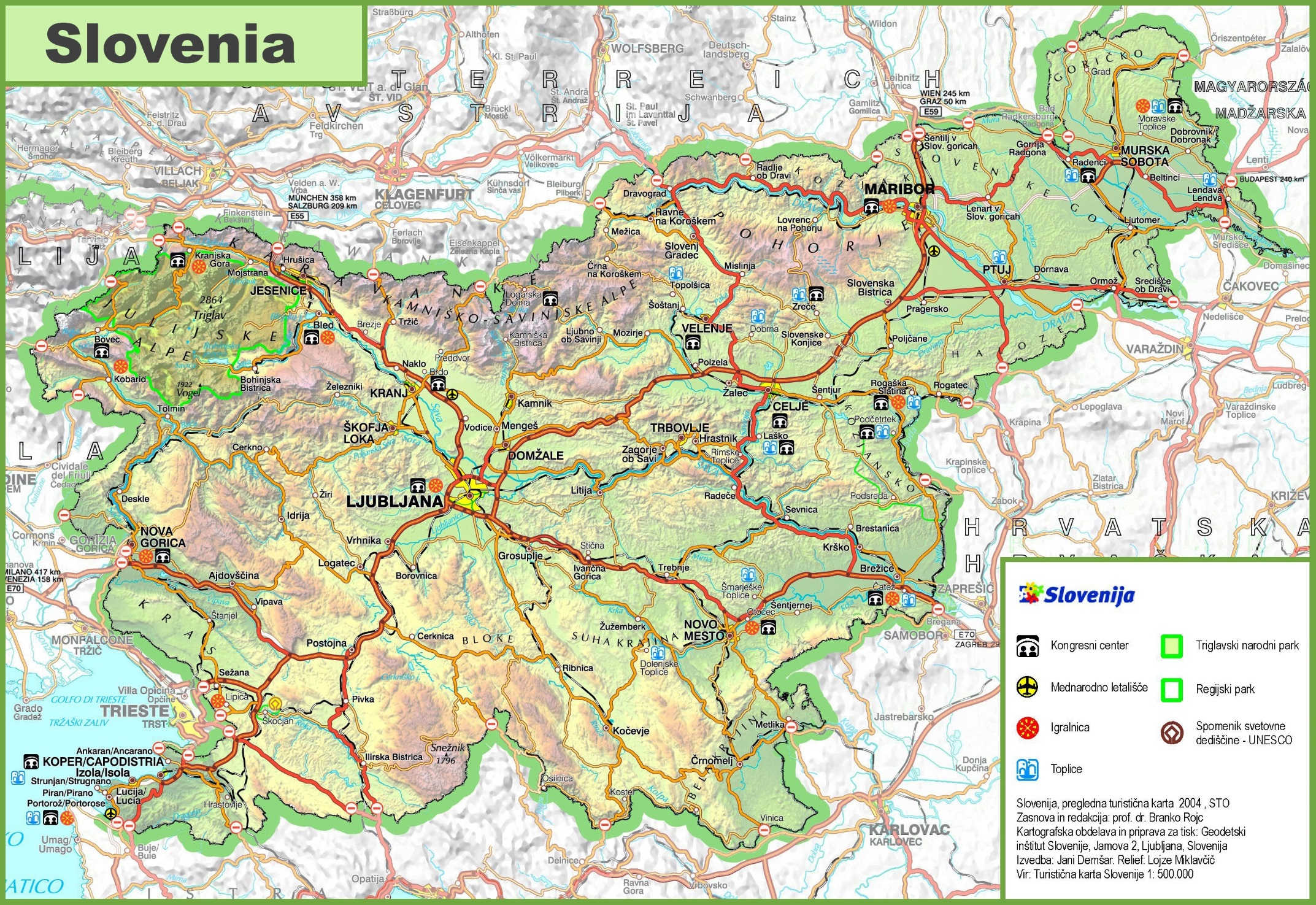 Map Of Slovenia Political Map Of Slovenia Nations Online Project - Slovenia map hd