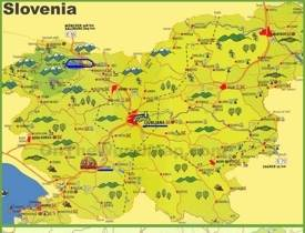 Slovenia tourist map