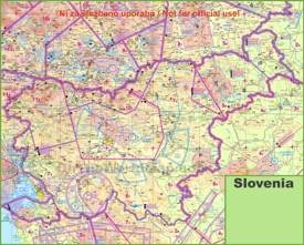 Topographic map of Slovenia