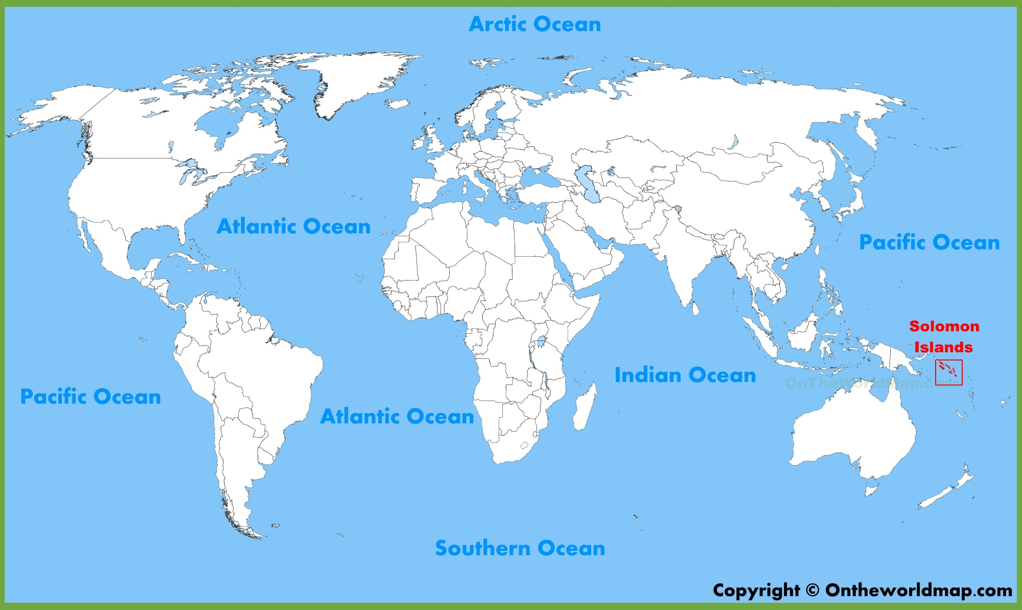 World Map Islands Solomon Islands location on the World Map