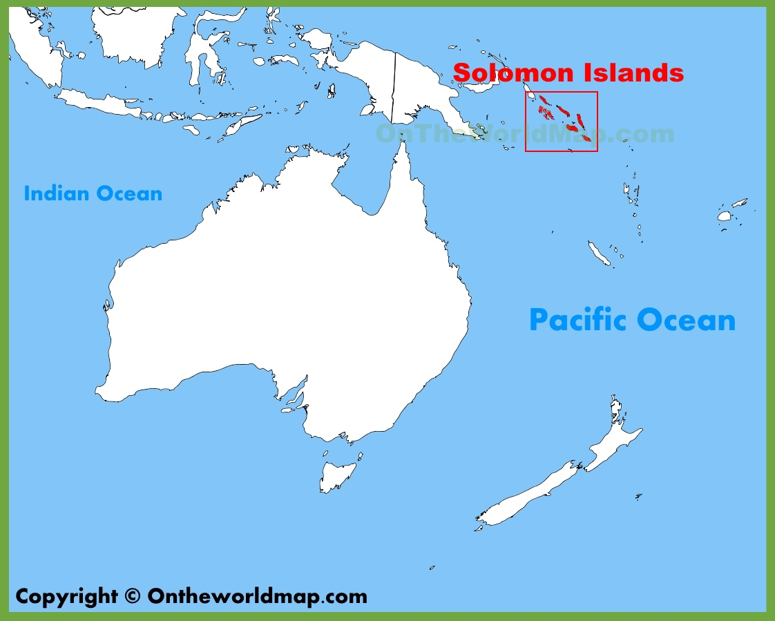 Solomon Islands location on the Oceania map
