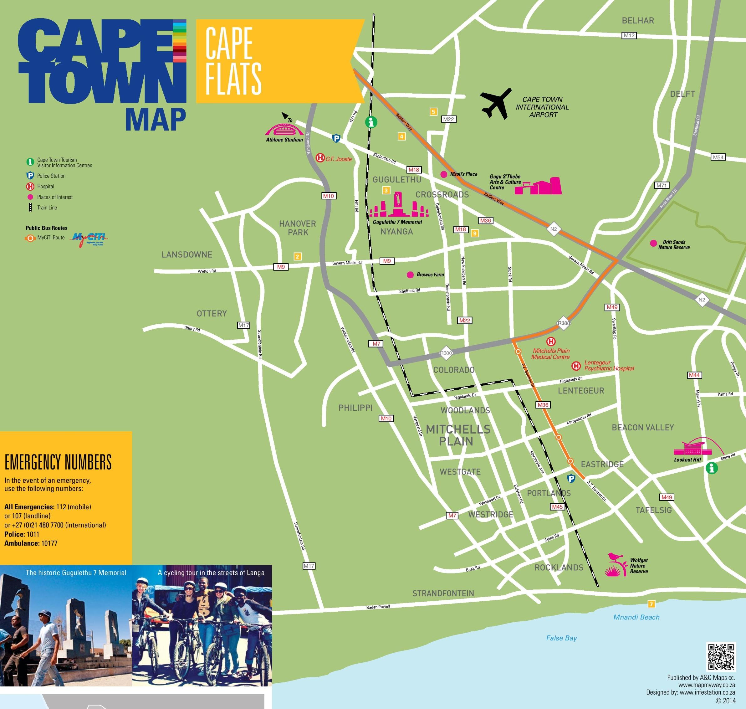 Cape Flats map Cape Town