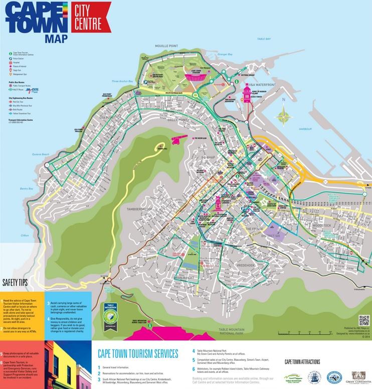 Cape Town city center map