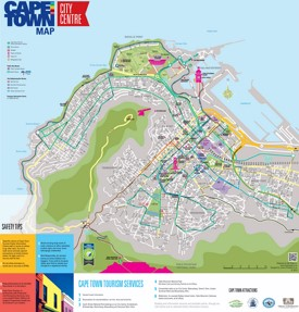 Cape Town city center map
