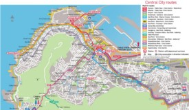 Cape Town city center transport map