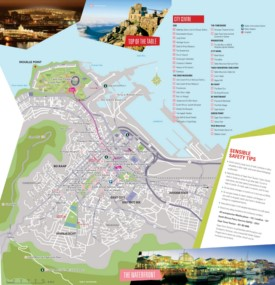 Cape Town tourist attractions map