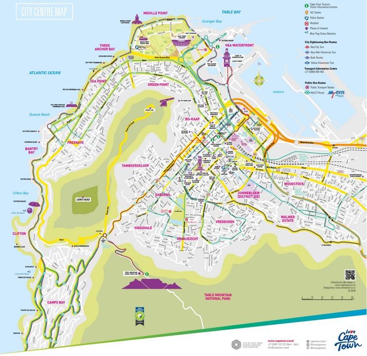 Cape Town tourist map